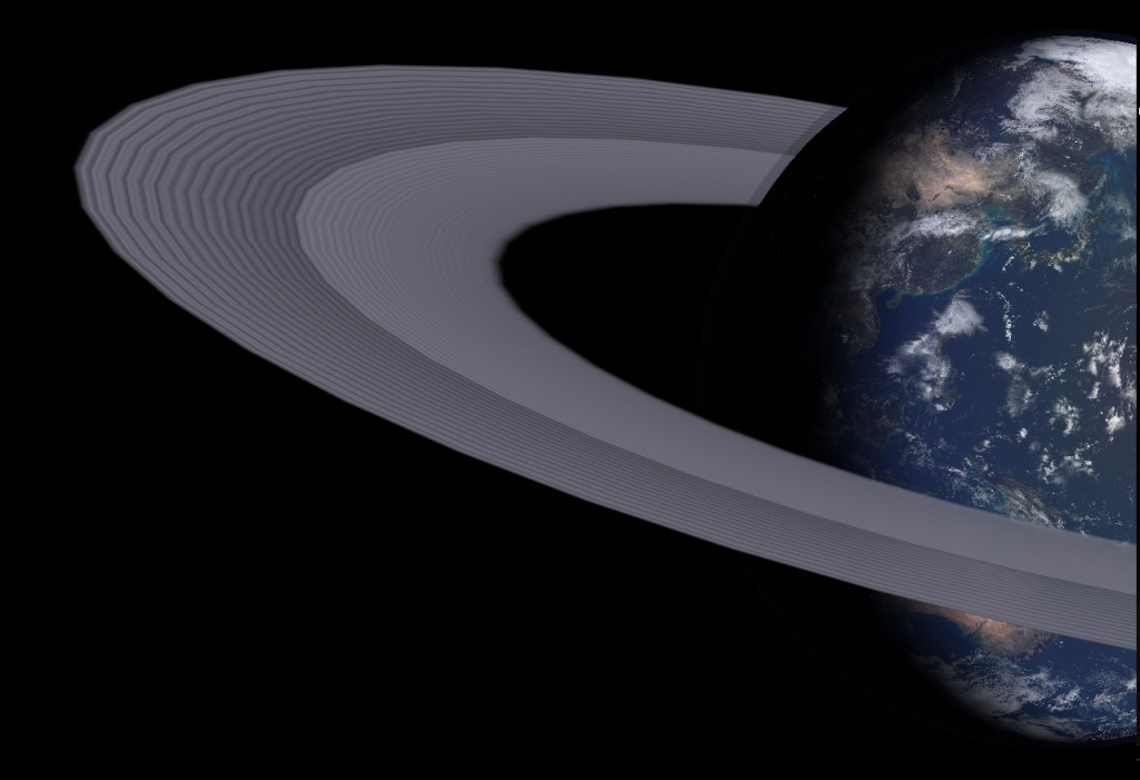 Earth's Rings in a more Moon-like color
