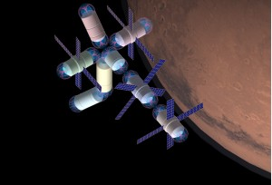 Concept of a flux-pinned space station